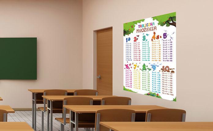 Naklejki szkolne do sal lekcyjnych - zainspiruj maluchy do nauki!