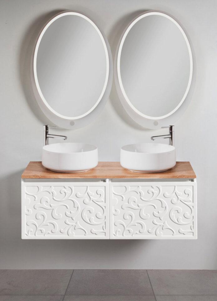 szafka pod dwie umywalki nablatowe